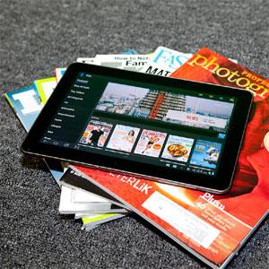"""Las revistas para tabletas podrían adelantar a sus """"hermanas"""" de papel en el año 2020"""
