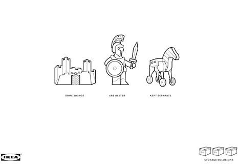 IKEA nos demuestra en una minimalista campaña por qué es mejor no mezclar ciertas cosas