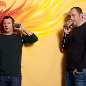 WhatsApp. co-founders of WhatsApp, Brian Acton and Jan Koum, pho