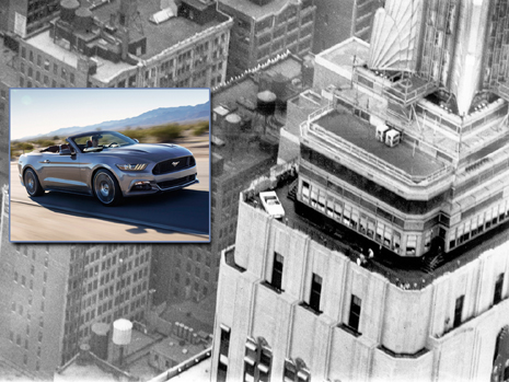 Ford Mustang Celebrates 50 Years at Empire State Building