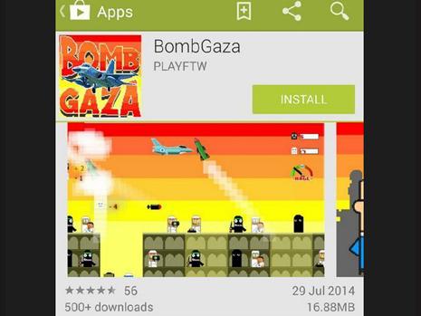 bomb gaza juego google play