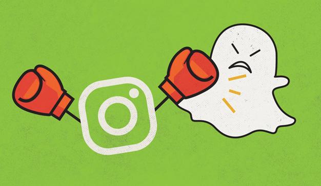 Así ha sido la lucha de poder (y el sorpasso) de Instagram y Snapchat