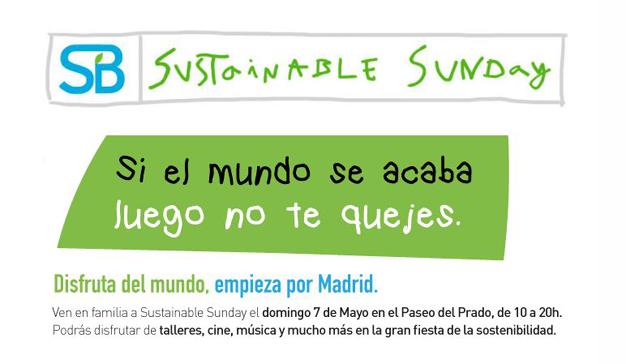 Sustainable Sunday invita a todos los madrileños a vivir un domingo sostenible #SustainableSunday