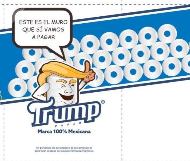 Un mexicano crea un papel higiénico dedicado a la mayor gloria (escatológica) de Trump
