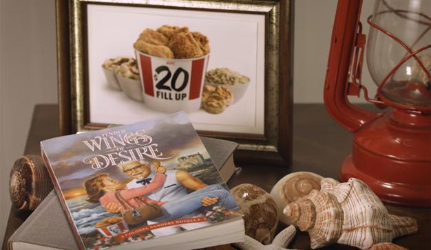 KFC cambia el pollo por la pluma y publica su primera (y cursi) novela romántica