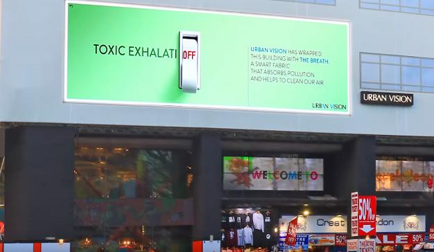 """Estas """"absorbentes"""" vallas publicitarias engullen la polución en las ciudades"""