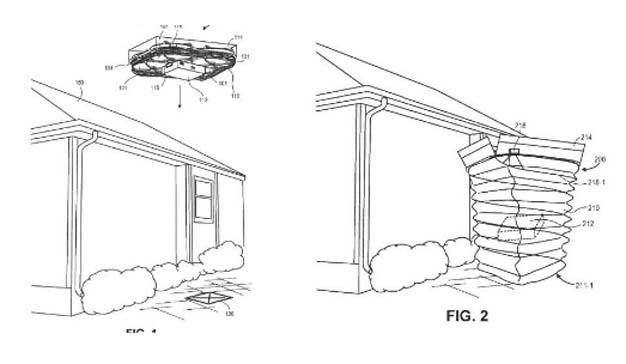Amazon patenta paracaídas para su modelo de entrega por dron