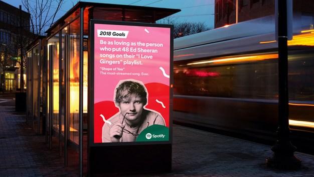 Spotify da la bienvenida al 2018 en una divertida y magistral campaña exterior data driven