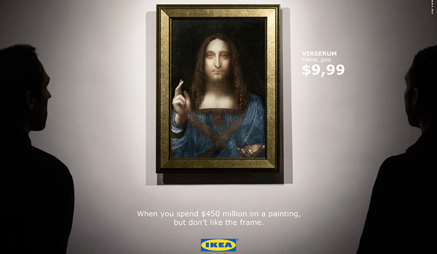 IKEA saca rédito creativo de la venta de la pintura más cara del mundo