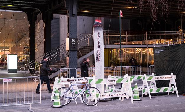 HBO utiliza el sistema de vapor de Nueva York para promocionar una de sus series