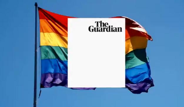 The Guardian convierte en monocromático su tradicional logo azul y blanco