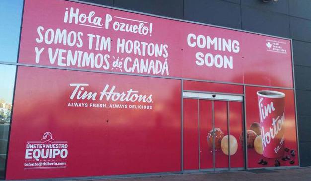 Tim Hortons inaugura dos nuevos establecimientos en Madrid