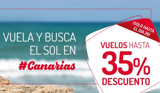 El sol de las Islas Canarias más cerca con Iberia Express