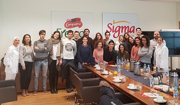 Alumnos del Grado en Gastronomía de la UFV visitan las instalaciones de Campofrío