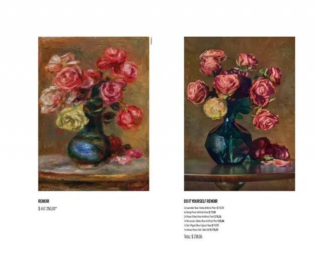 Esta campaña reproduce cuadros de grandes artistas con artículos de decoración