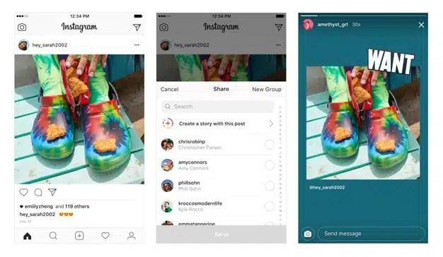 Los usuarios de Instagram podrán ahora compartir publicaciones de otras personas en sus Stories