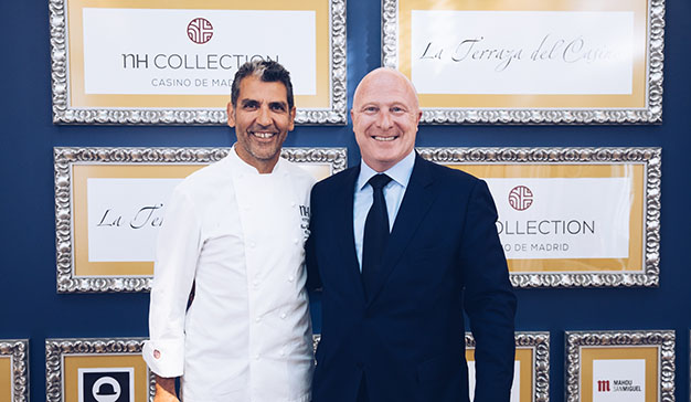 El chef Paco Roncero presenta la renovaza terraza del NH Collection Casino Madrid