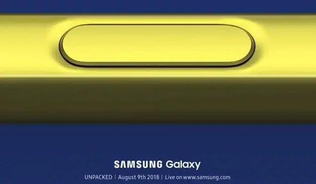 """Samsung anuncia oficialmente el """"Unpacked"""" de su nuevo (¿y amarillo?) Galaxy Note 9"""