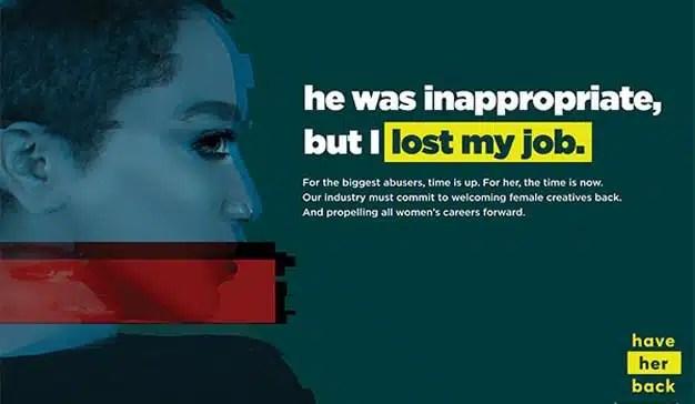 #HaveHerBack: la tolerancia cero de la industria ante el acoso sexual a las mujeres