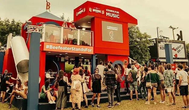 Beefeater confía en Virtue colocando stands en los festivales Mad Cool y BBK