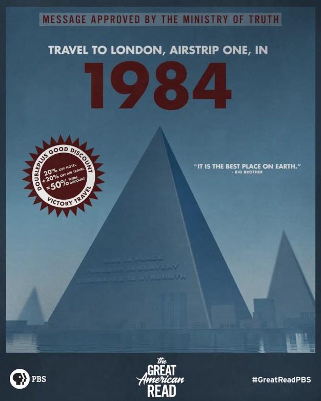 Las novelas más icónicas de la historia invitan a adentrarse en sus mundos convirtiéndose en pósters vintage