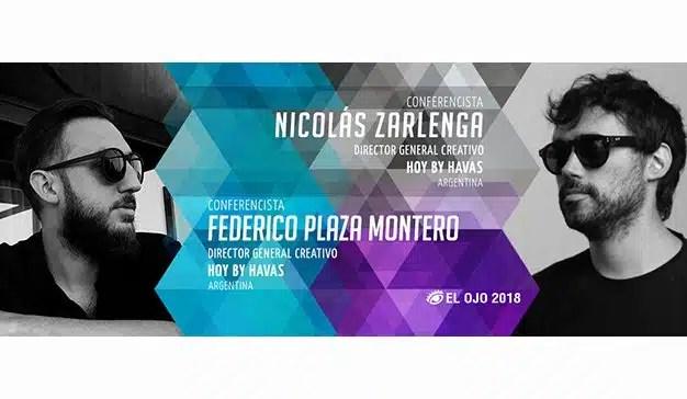 El Ojo 2018 anuncia a Nicolás Zarlenga y Federico Plaza Montero como Conferencistas