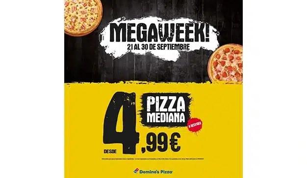 Domino's Pizza sorprende a sus clientes y revoluciona a la competencia con MEGAWEEK