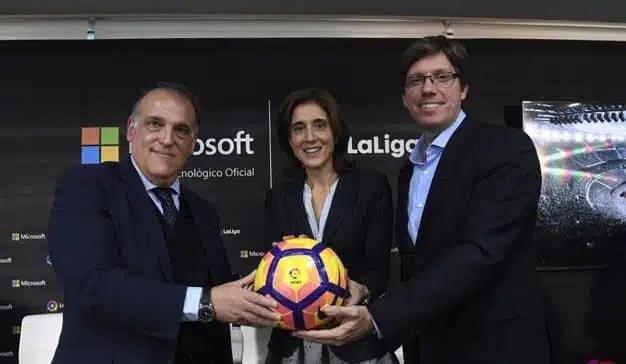 LaLiga será vista por 500 millones de aficionados al fútbol gracias a Microsoft