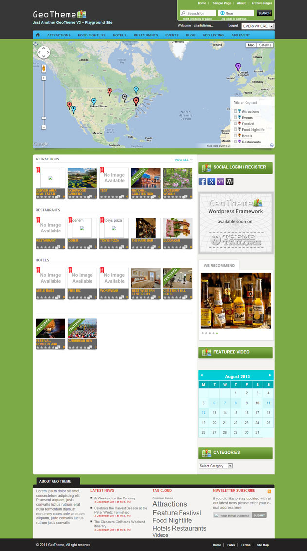 GEO Theme Directory Theme for WordPress free download