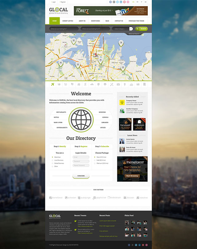 Glocal Directory Theme for WordPress free download