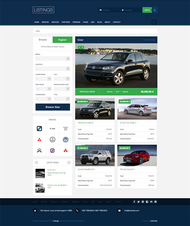 Listings Directory Theme for WordPress free download