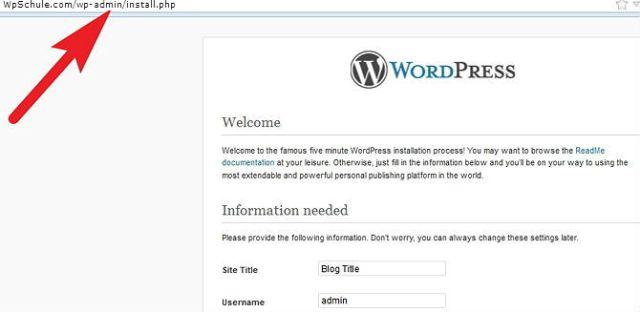 Running-WordPress-Installation-Script