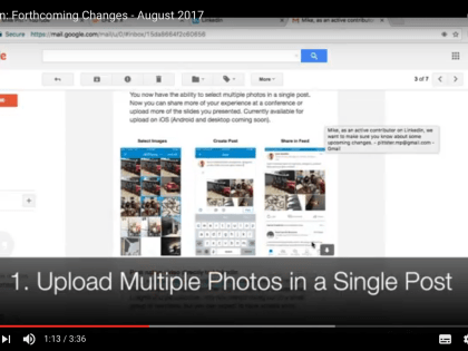 LinkedIn: Forthcoming Changes – August 2017