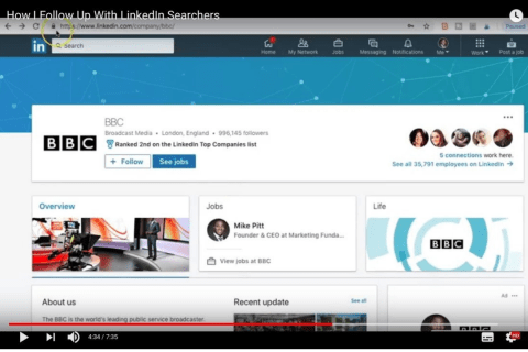 How I Follow Up With LinkedIn Searchers