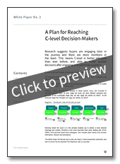 Preview: A Plan for Reaching C-level Decision-Makers
