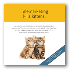 Telemarketing kills kittens