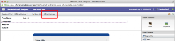Email Settings - Step 1