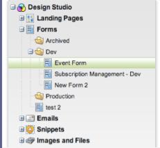 Form Organization Tree