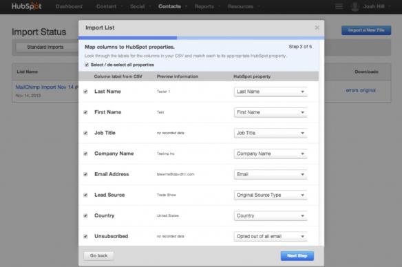 Import HubSpot Contacts 3