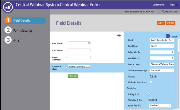 Recurring Webinar Form