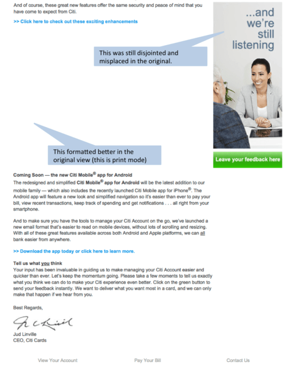 Citi Card Email Bottom