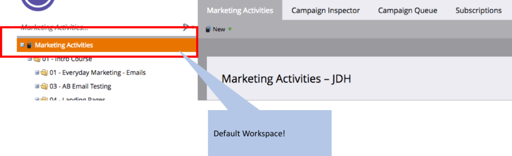 Default workspace everyone has