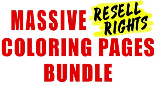 Massive Resell Rights Coloring Pages Bundle