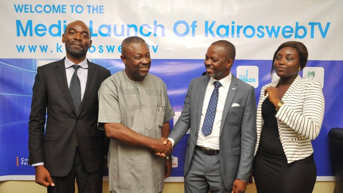 From Left: Mr. Ejiro Eghagha, Managing Partner Mercury West Africa; Mr Onoriode Akpe, Chief Executive Officer of Red Sappire Limited; Mr. Celestine Achi, CEO of Cihan Group and the founder of KairoswebTV; and Ms. Ruth Opakunle, Head Marketing of Cihan Group, at the media launch of KairoswebTV in Lagos