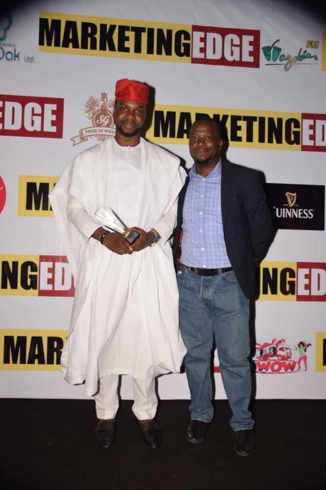 Adebola Williams, Founding Partner, RED; Anietie Udoh, GM,Marketing Edge Magazine