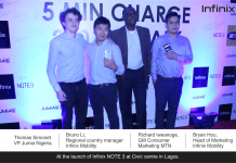 Infinix Unveils 5 minutes fast charge smartphone 'NOTE 3' in Nigeria, partners JUMIA, MTN-marketingspace.com.ng