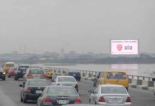 Mediaviews/LASACO LED Billboard Hoists Star Lager Campaign-marketingspace.com.ng