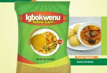Igbokwenu: Hygienically Packaged Yellow Garri Enters Nigerian Market …available in Shoprite, Spa, Games, Others-marketingspace.com.ng