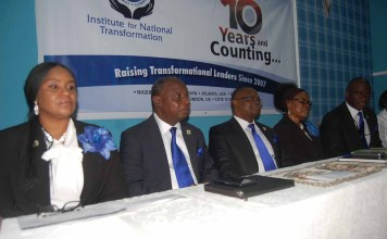 Institute for National Transformation Clocks 10…Unveils Plan to Train 21 Thousand Nigerians-marketingspace.com.ng