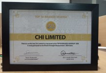 CHI Limited Bags Top 50 Brands Nigeria Award-marketingspace.com.ng